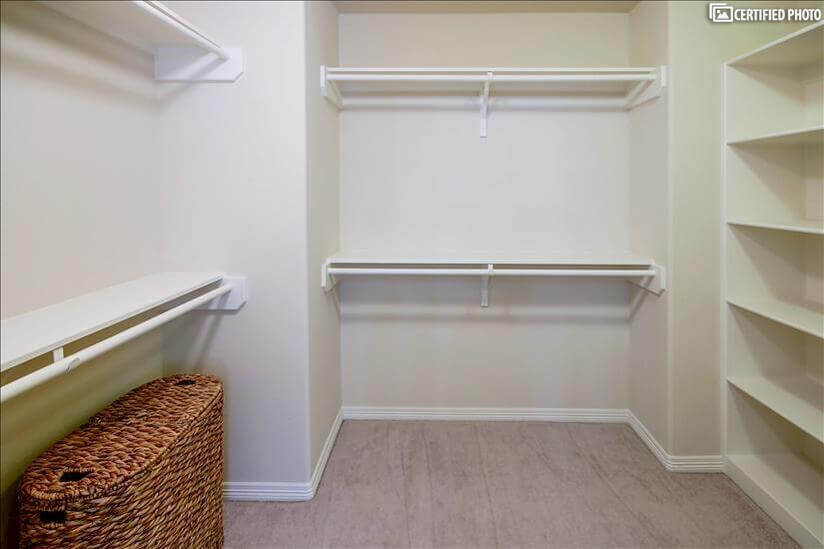 Large master closet with sufficient space