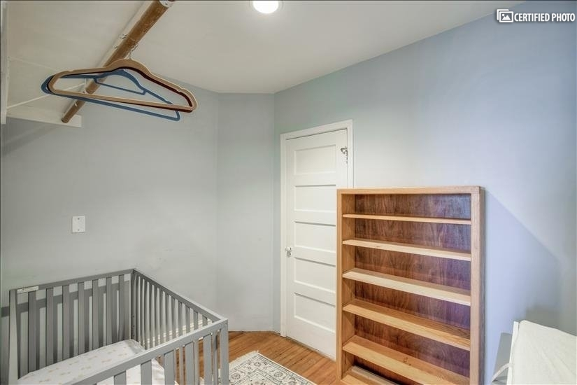 Walk-in closet off master or crib room for infant