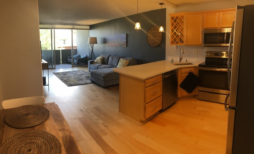 Open design and layout.