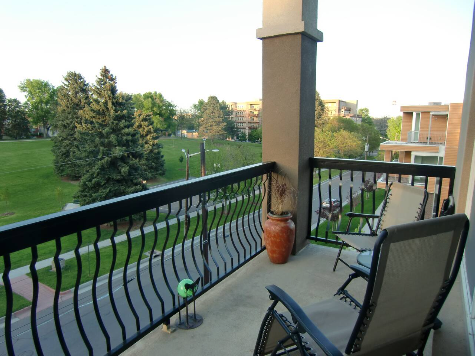 Enjoy Tranquil Views of Jefferson Park from Patio.