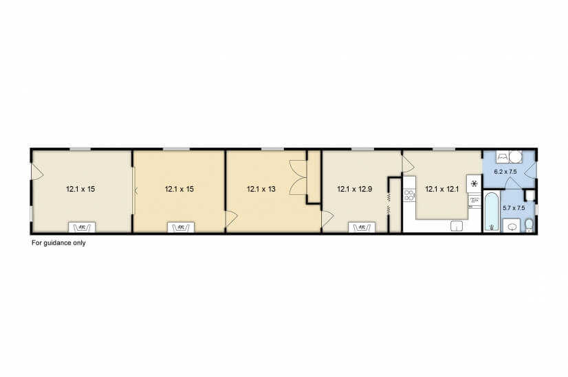 Floor plan...1000 square feet of living space!