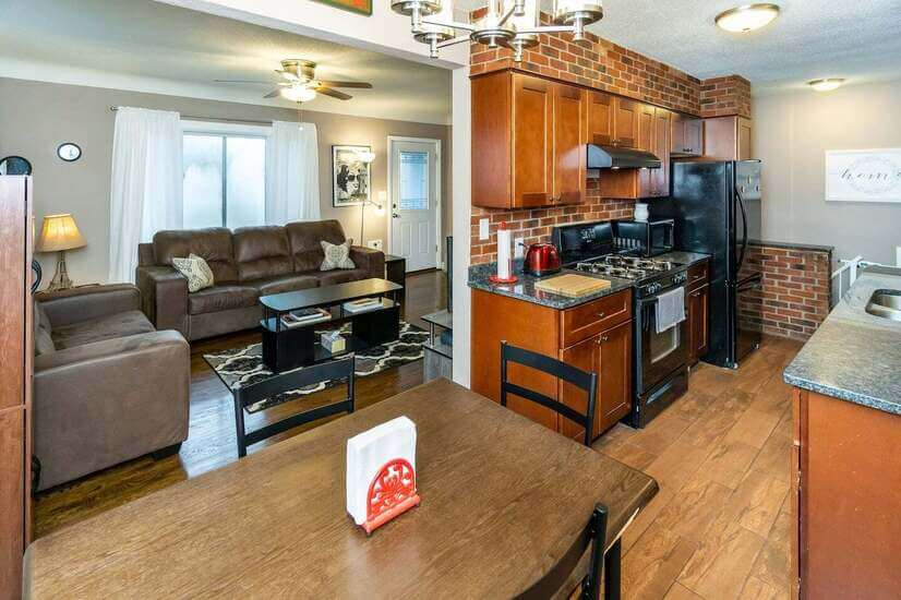 Dining, Kitchen, Living Room