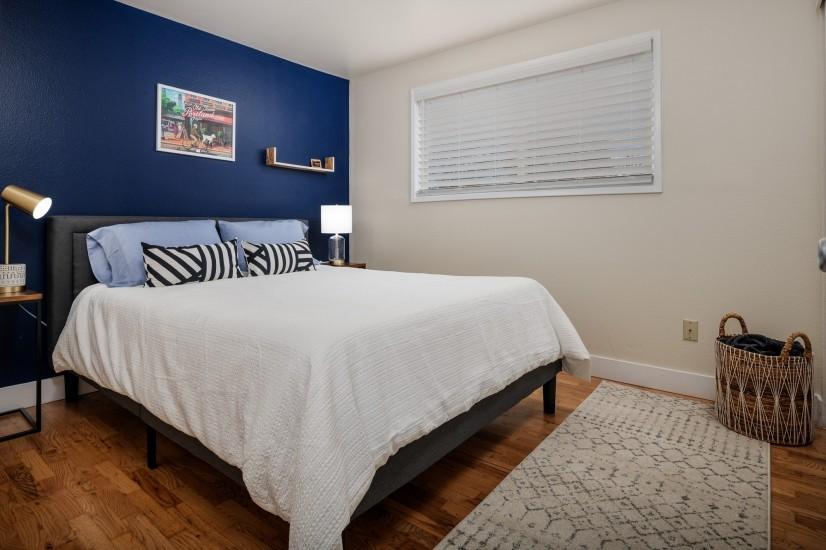 Bedroom #3, Queen bedroom, view from the doorway