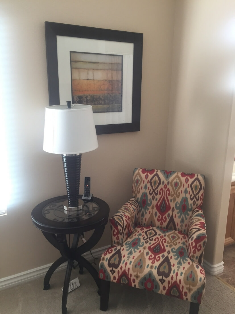 Beautiful accent chair for master bedroom