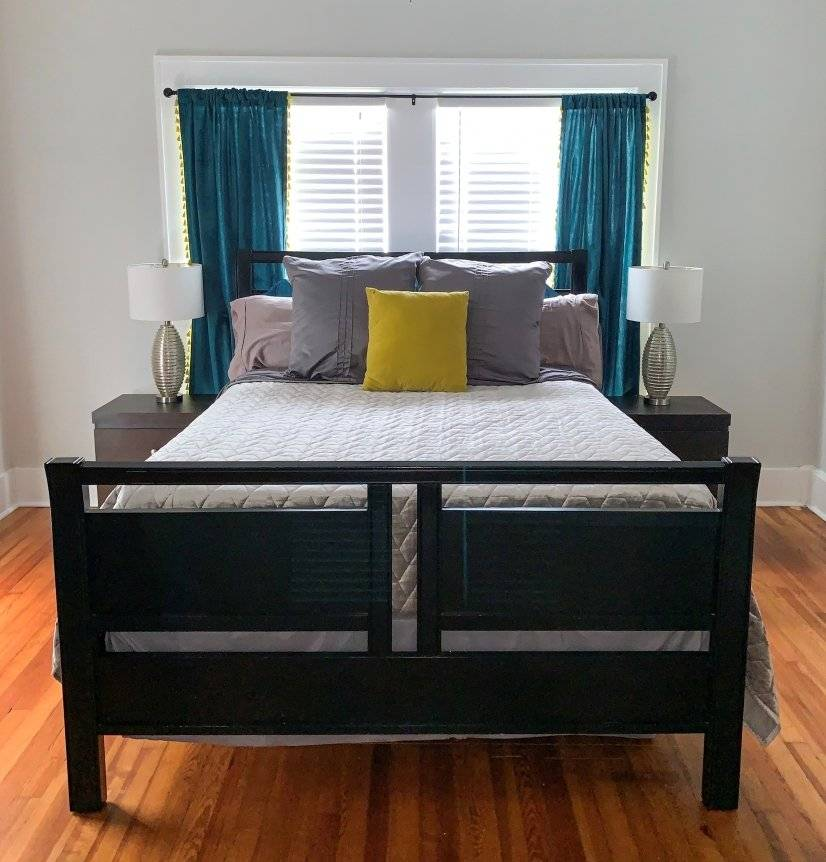 Spacious master bedroom with large walk-in closet