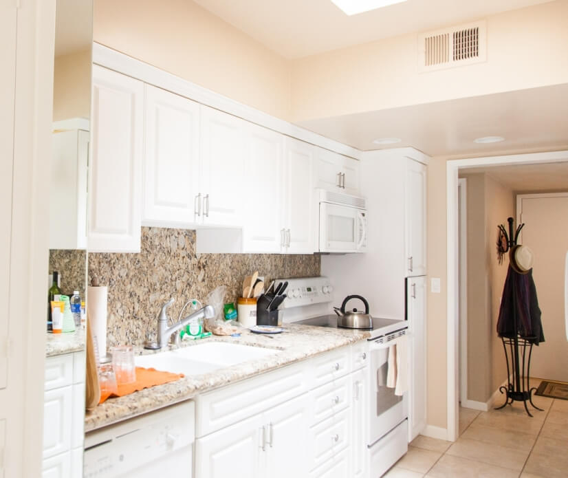 Kitchen and entry way