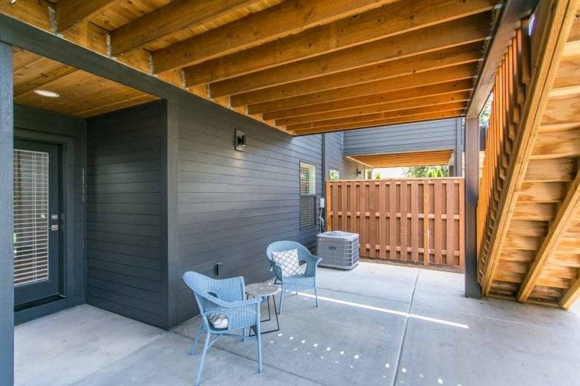 Covered Outdoor Sitting Area and Entry, Unit 2
