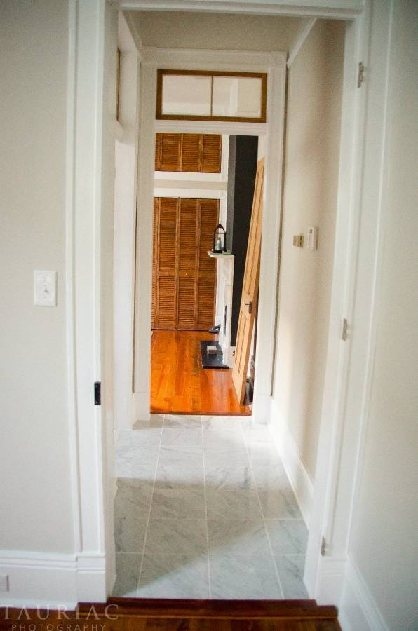 Marble hallway.