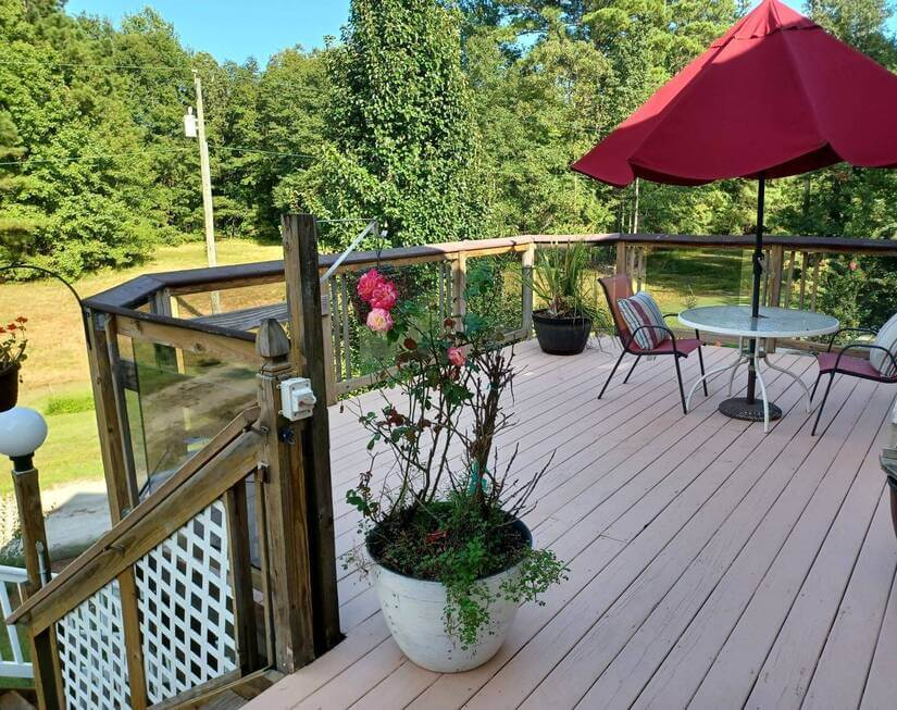 The Suite's Private Deck & View