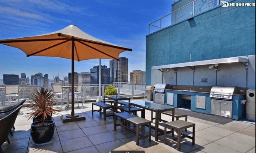 Rooftop Deck BBQ Area