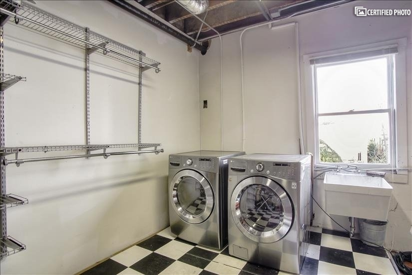 Dedicated washer and dryer in garage