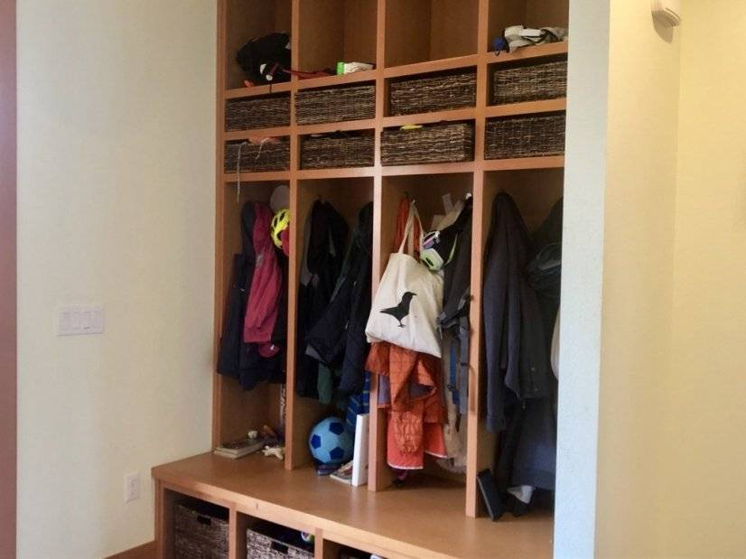heavily used entry cubbies