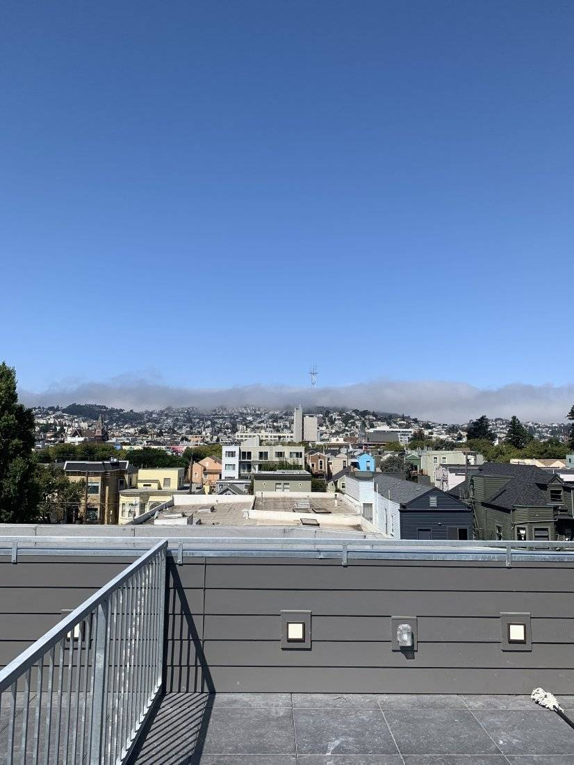 Private rooftop deck up top