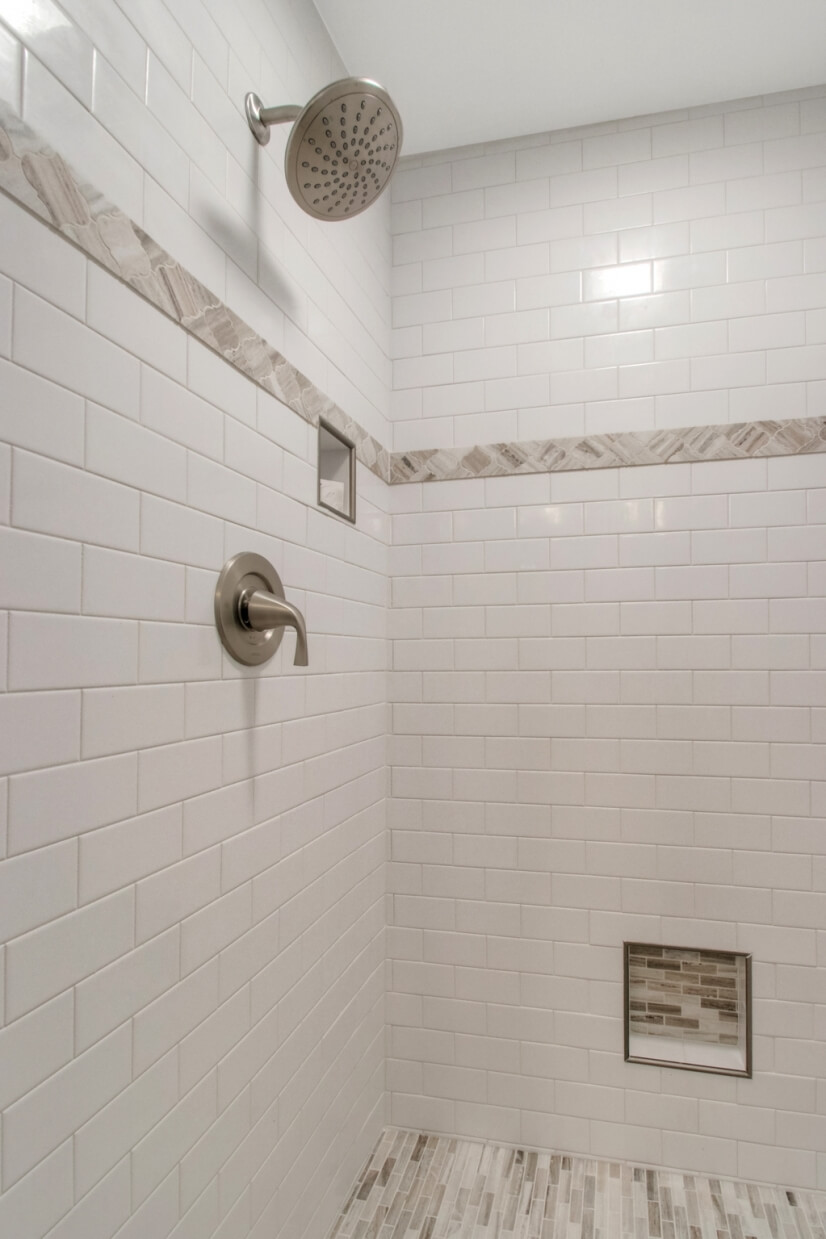 Gorgeous tile work in the  Master shower
