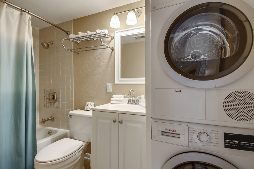 Some Seascape Units Offer a Washer & Dryer