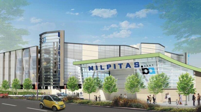 close to Milpitas Bart station