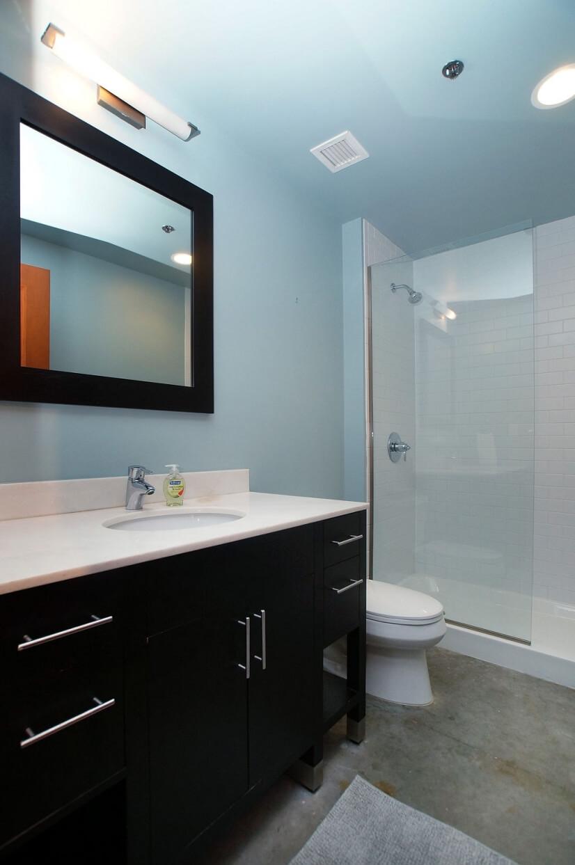Hall Bath with Walk In Shower