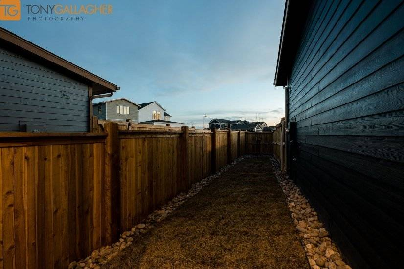 Fenced Side yard