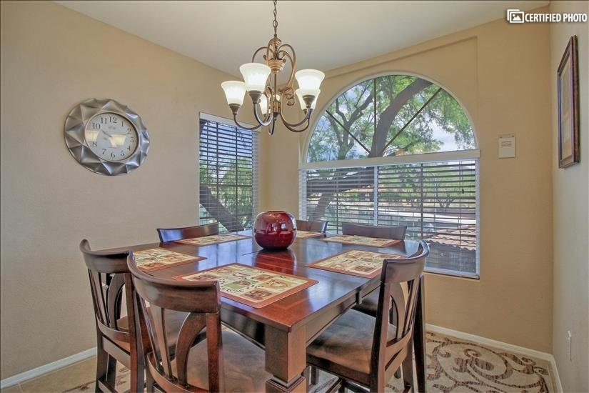 Relax and enjoy this close to kitchen dining area