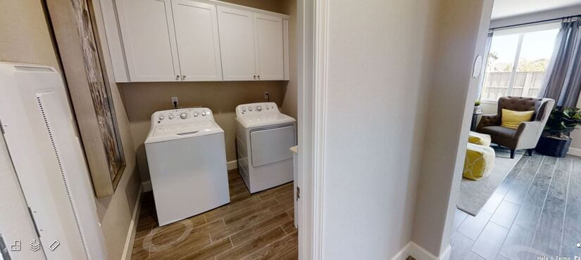 laundry area with everything included