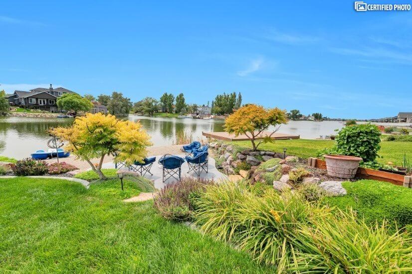 Backyard with Lake & Mountain Views