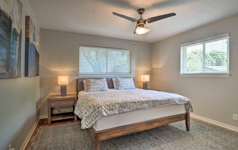 Master Bedroom has King Size Serta iComfort mattress