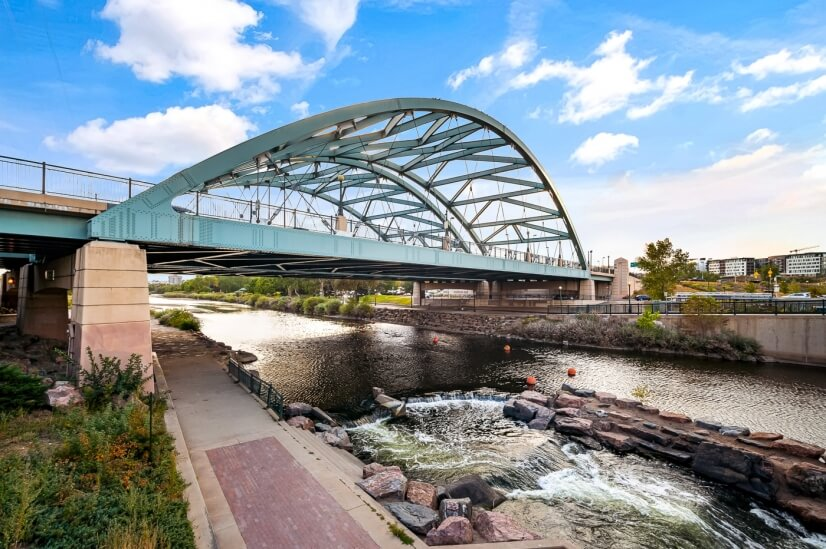 Highland Arch Bridge connects LoHi to the rest of Denver.