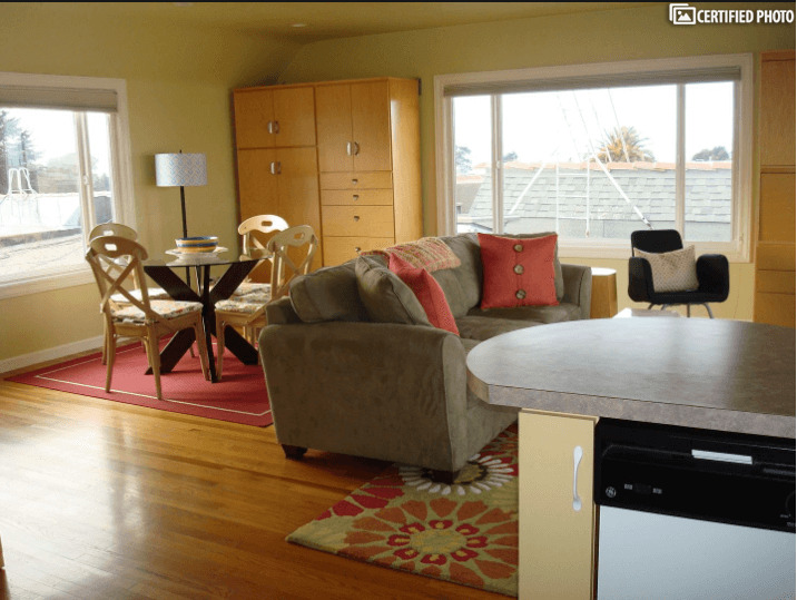 Living Area from Open Kitchen
