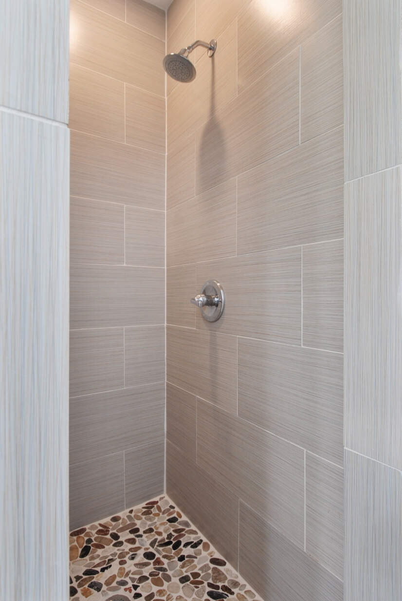 Newly renovated bathroom and shower