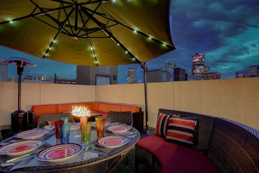 Enjoy the firepit while drinking in the magic of the city.