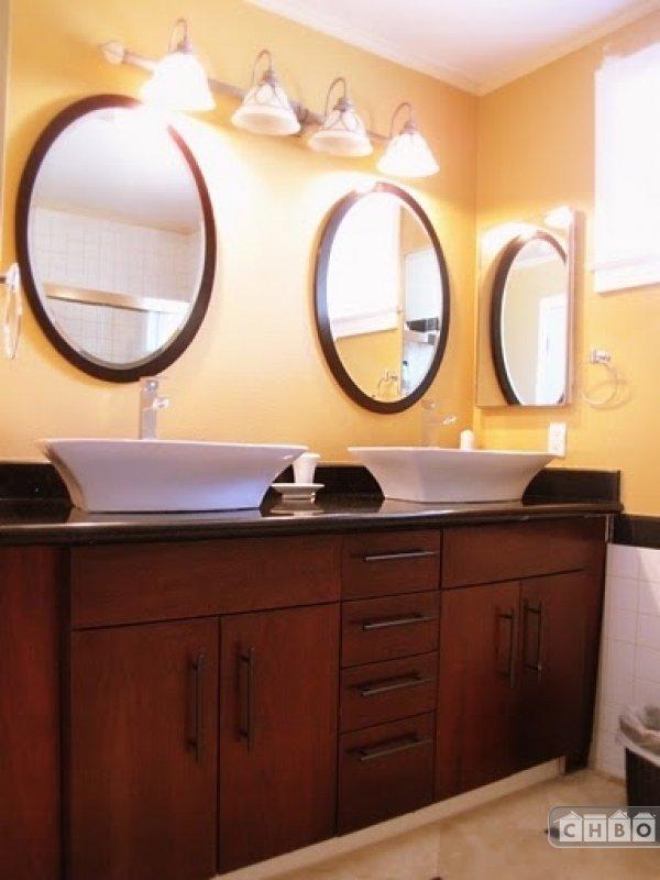 Hall Bathroom with European Design