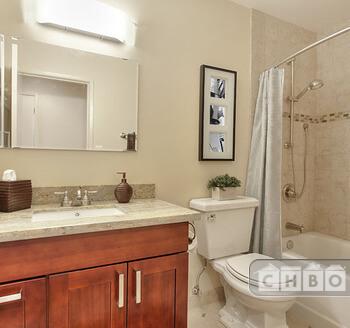 Luxurious new tiled bath