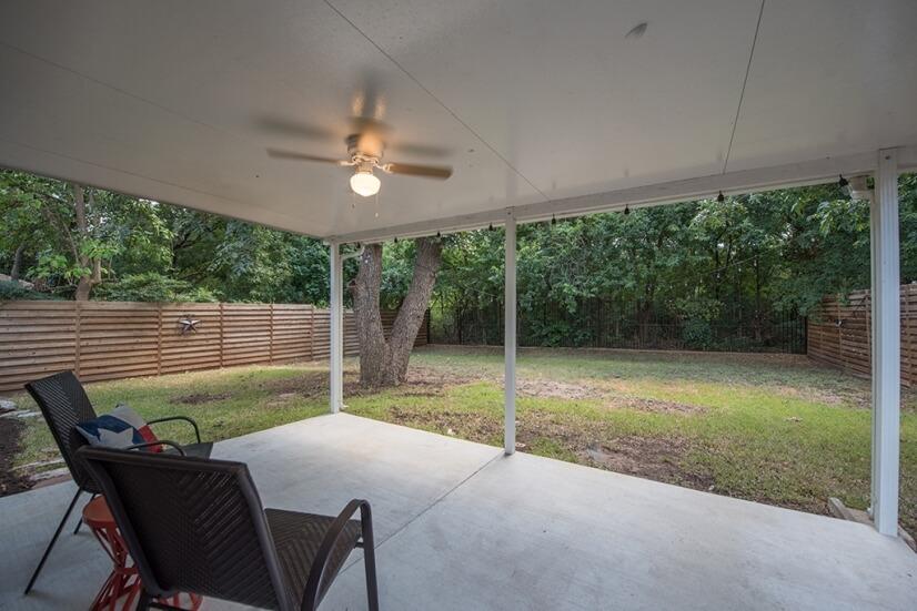 Backyard facing Greenbelt