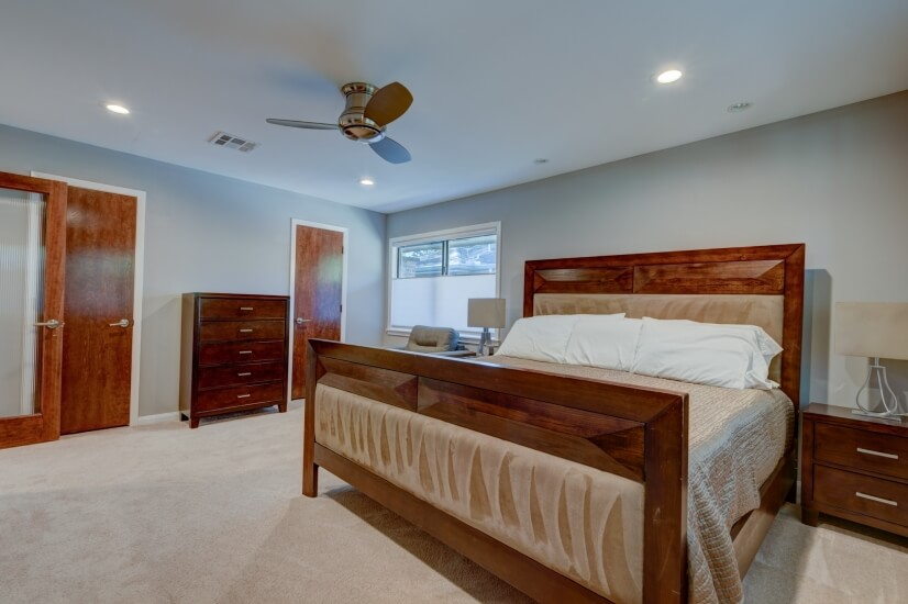 Rear Bedroom With King Bed