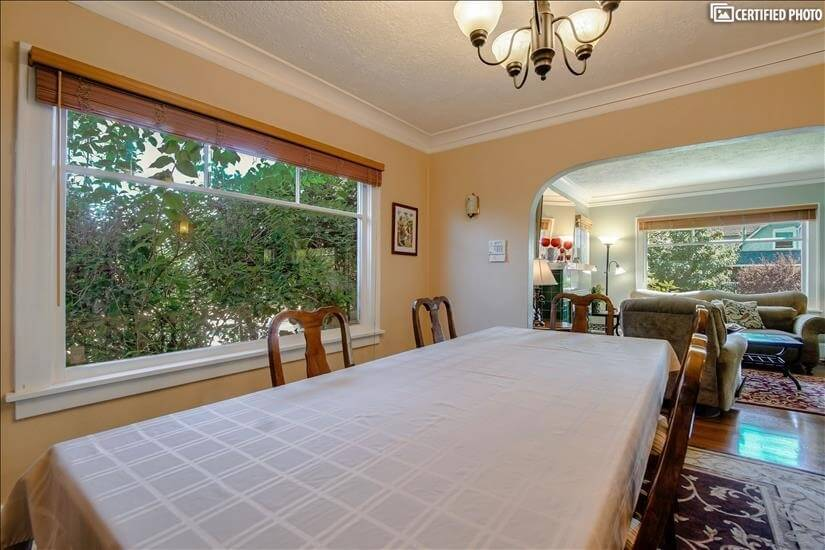 8.5-foot-lomng dining room table