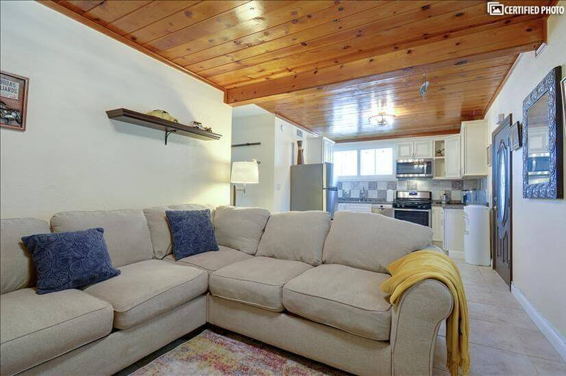 Large sectional sofa in living area