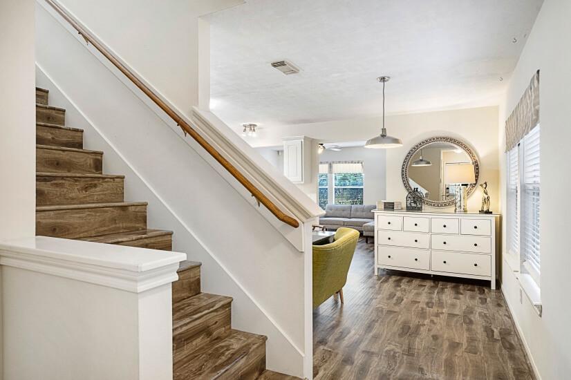Stairway from Kitchen & Hall Closet