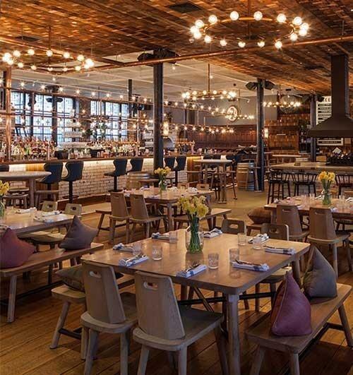 Yacht club bar and restaurant