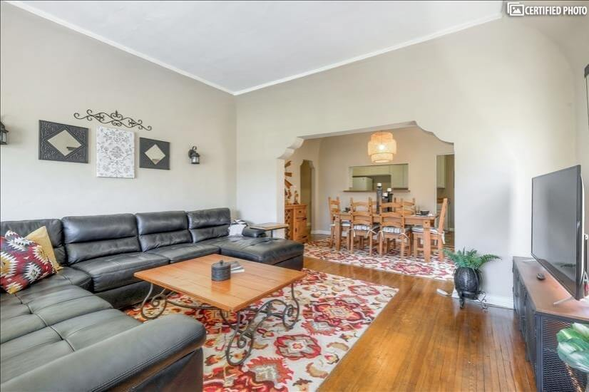 Spacious 1500 sq. ft with a large living room.