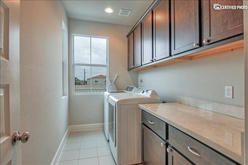 Elegant and comfortable laundry room!