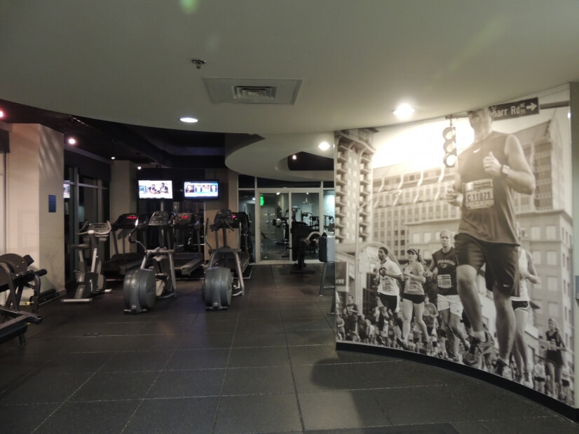 Fantastic Fitness Center with Skyline View!