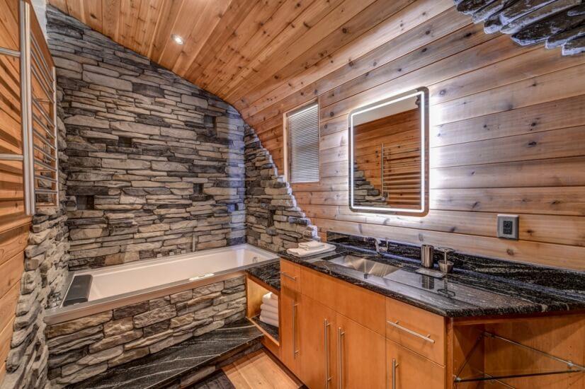 Guest BR SHOWCASE BATHROOM w/infinity tub and custom shower