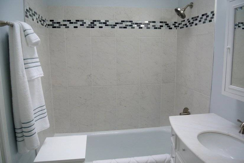 Modern Bath on Main Floor