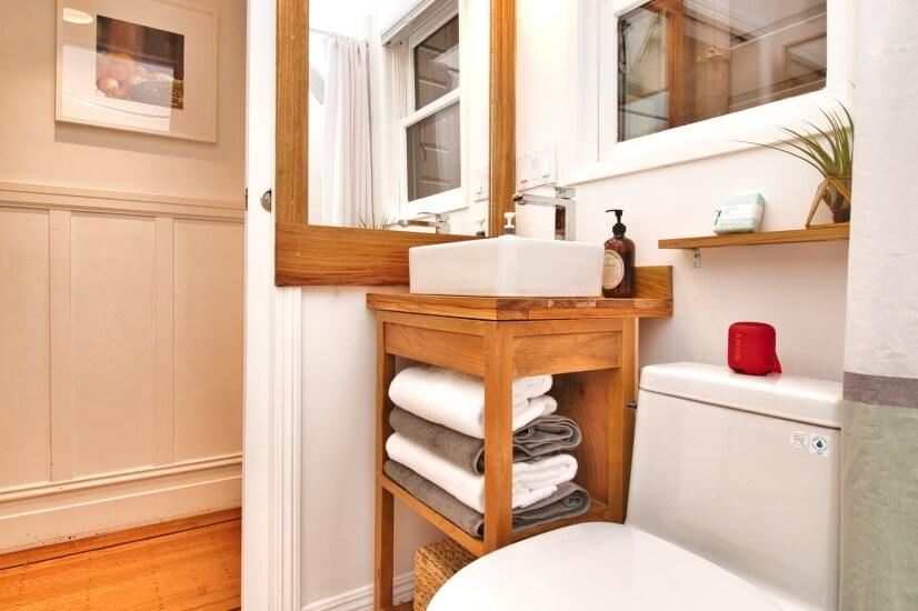 Plenty of plush cotton towels for your comfort