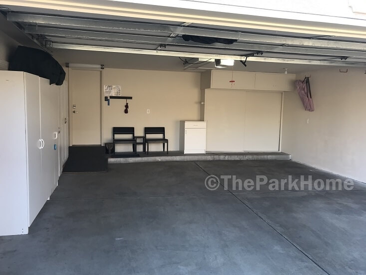 Large 2 car attached garage–a great find in