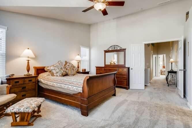 Master bedroom and Hallway