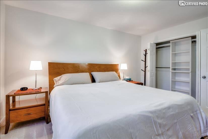 Kingsize Sleep Number bed and large master closet