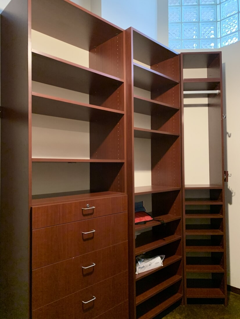 Custom-built, walk-in closet