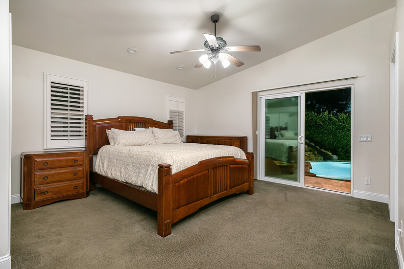 Master Bedroom with 2 closets. Cal King Bed