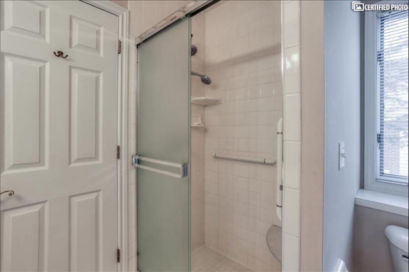 Master bathroom single  stall shower.